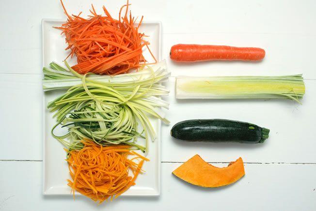 vegetable spaghetti bottom
