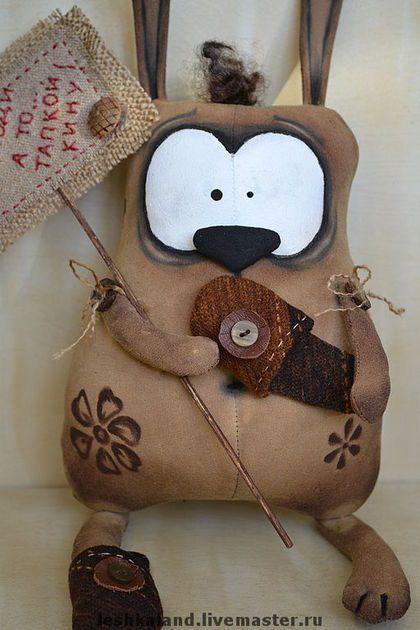 Ароматизированные куклы ручной работы. Ярмарка Мастеров - ручная работа. Купить Кто здесь.... Handmade. Авторская игрушка, заяц, хлопок