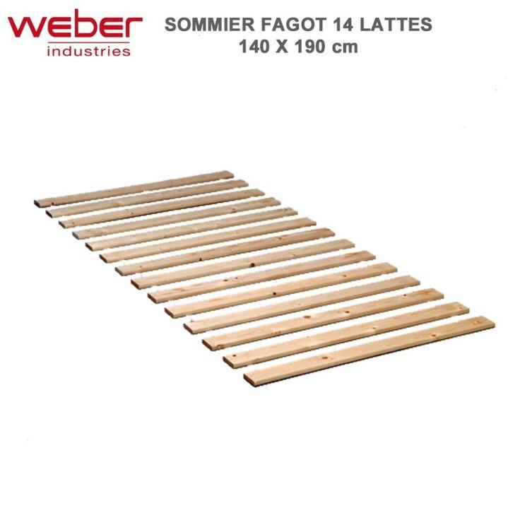 Sommier  Fagot 14 lattes 140 x 190