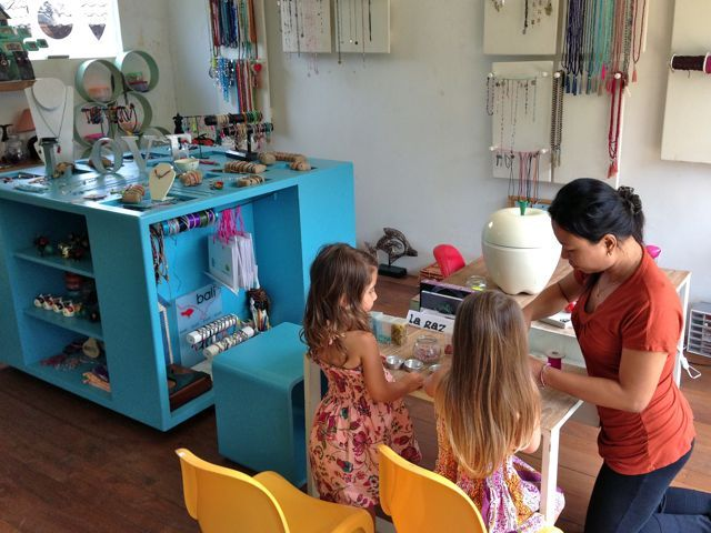 Be Creative Workshop in Seminyak is a perfect place to bring your little one for some creative jewelry making fun. The staff here are friendly and give personal attention to every child.