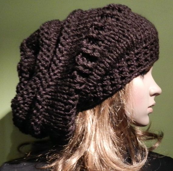 Hand Knitted Super Chunky and Soft  Slouchy Hat by picoloknitting, $52.50