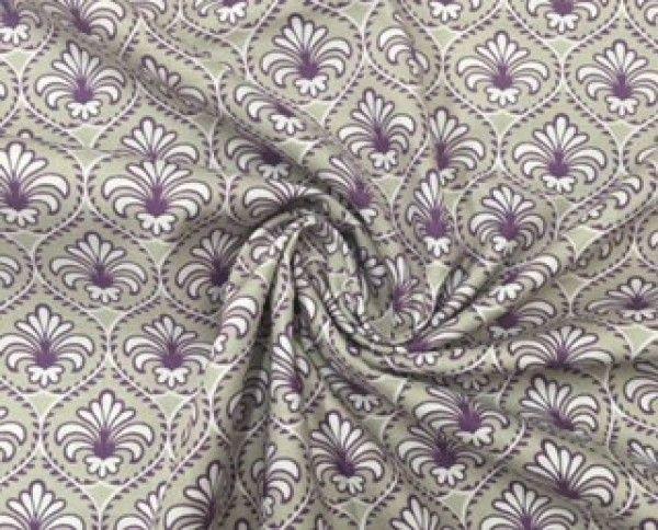 Baroque flowers violet Panini Tessuti