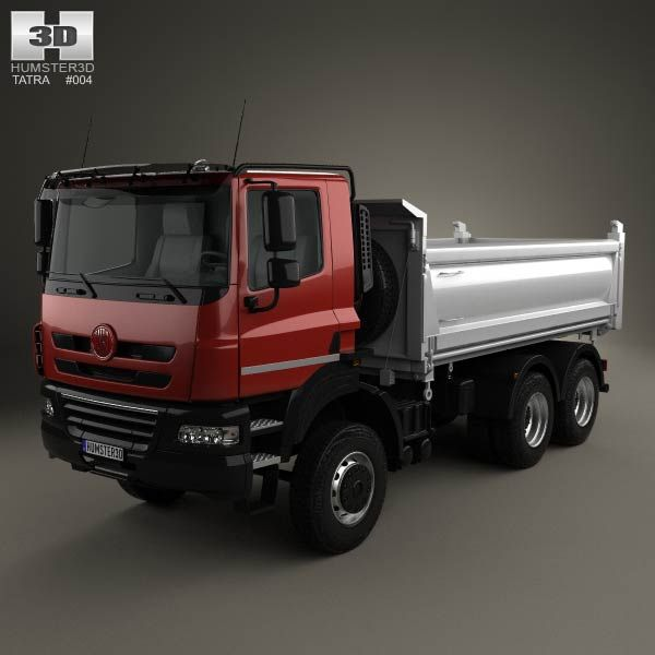 Tatra Phoenix Tipper Truck 3-axle 2011 3d model from humster3d.com. Price: $75