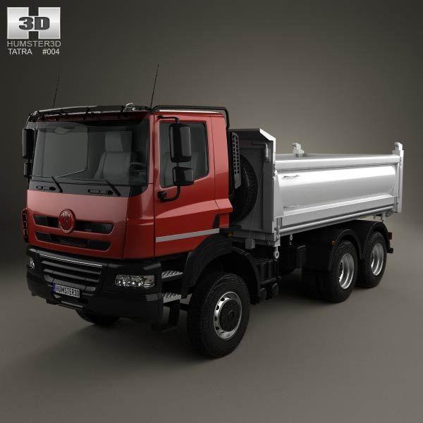 Tatra Phoenix Tipper Truck 3-axle 2011 3d model from humster3d.com. Price: $75