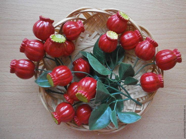Купить Ветка боярышника искусственная для декора. - Боярышник, ветка боярышника, топиарий, декоративная ягода