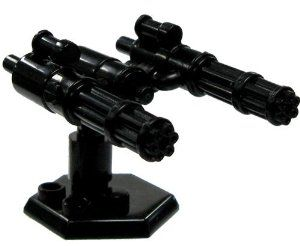 BrickArms 2.5 Scale Exclusive Sentry Gun Turret Includes Catspaw Stand by BrickArms. $14.00. The sentry gun turret is made from the followingx3 Black BrickArms MiniGuns (you get the full parts for all three, but no ammo chain.)x3 Black BrickArms Monopodsx1 Catspaw Stand (random color)x1 Black LEGO piece