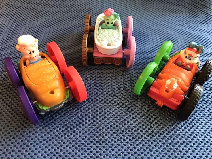 McDonalds Happy Meal Tiny Toons Flip Cars Lot Of 3 1990s #WarnerBrosInteractiveEntertainment