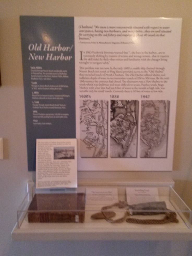 Artifacts about commercial fishing and how the harbor has changed over the years. Photo taken 2014 in the Fishing Gallery at Atwood House Museum, Chatham, MA. #fishing, #scallop, #chatham, #chathamhistoricalsociety, #atwoodhouse, #capecod
