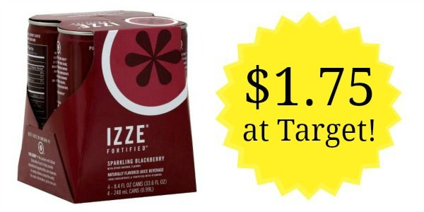 Target: IZZE Sparkling Juice 4-pack Only $1.75!