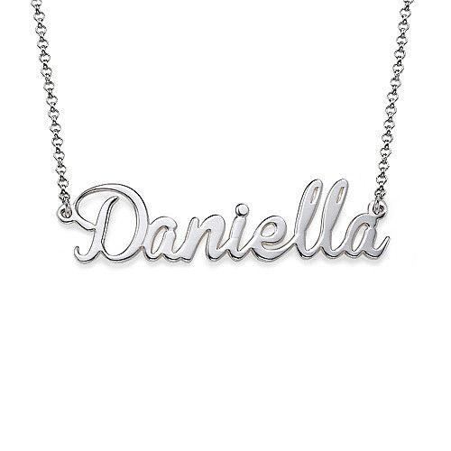 Naam Ketting met Amulet in Sterling Zilver | Moncollierprenom