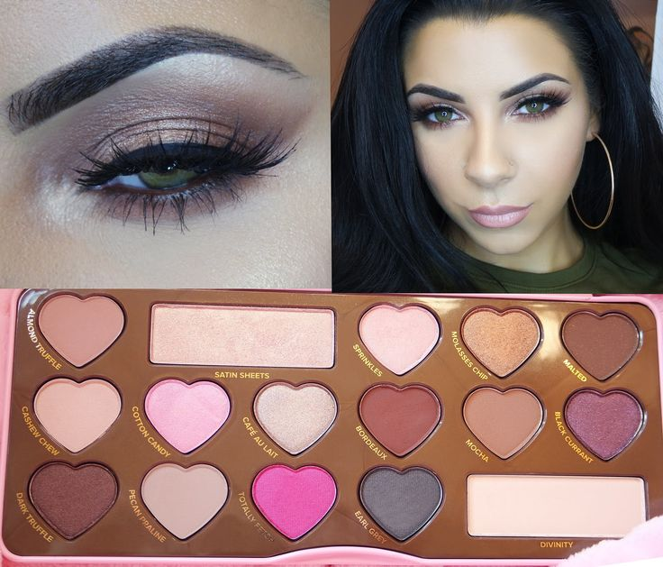 NEW Too Faced Chocolate Bon Bon Palette swatches and eye makeup tutorial...