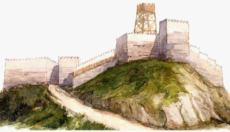 baluard sant julia de ramis a girona temps del ibers - Un cop abandonat l'oppidum ibèric de Sant Julià es va construir una torre de guaita i control (dibuix J. Sagrera i D.Vivó)