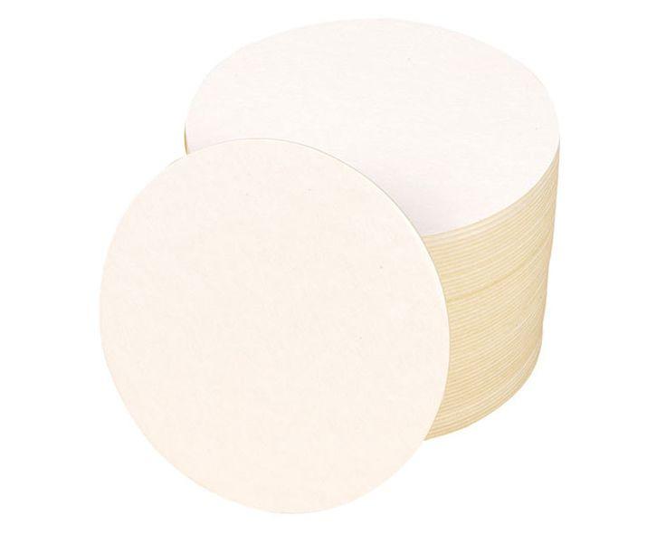 Blanko Bierdeckel, rund, 100 Stück