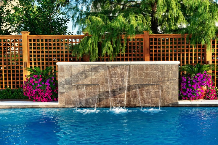 1000 images about pools on pinterest a hill pools and for Pool design water feature