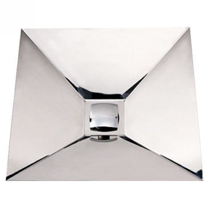 Whitehaus Collection Noah S Square Wall Mount Polished Stainless Steel Bathroom Sink Whncmb002