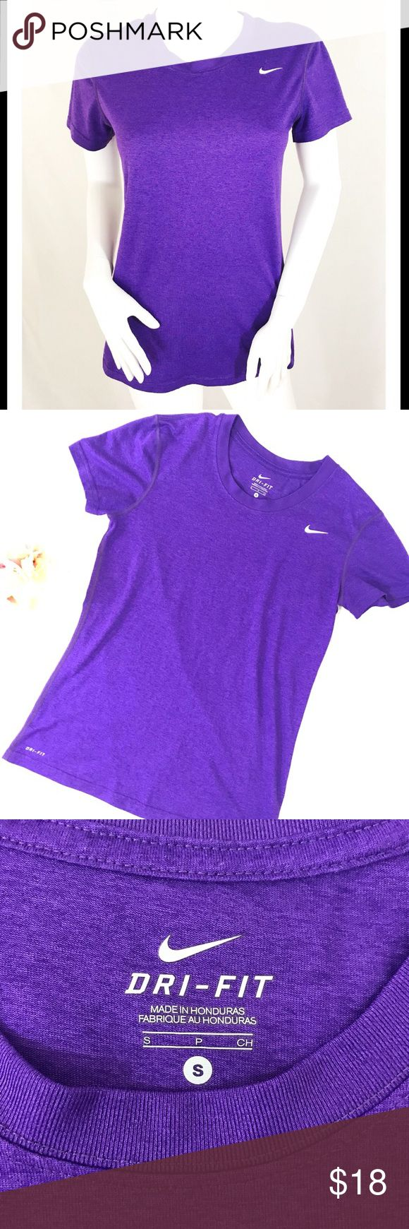 """NWOT Nike Dri-fit Tee NWOT Nike Dri-fit Tee in purple. Great basic piece to add to every fit-wardrobe. Comfy with breathable material that helps to keep you dry.  •Measurements•  Bust: 34""""  Length: 25"""" Nike Tops Tees - Short Sleeve"""