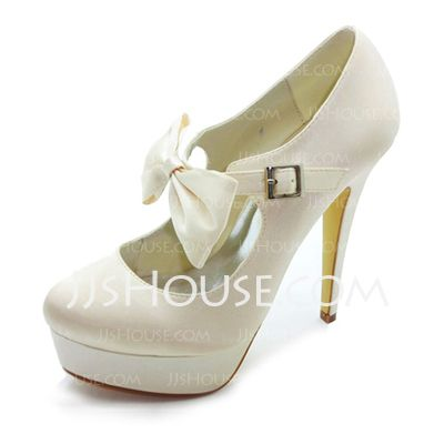 Wedding+Shoes+-+$86.99+-+Satin+Stiletto+Heel+Closed+Toe+Platform+Pumps+Wedding+Shoes+With+Bowknot+Buckle+(047017781)+http://jjshouse.com/Satin-Stiletto-Heel-Closed-Toe-Platform-Pumps-Wedding-Shoes-With-Bowknot-Buckle-047017781-g17781