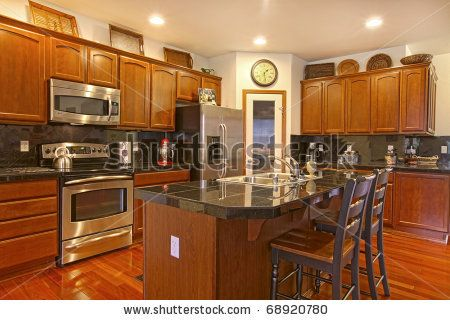 Cherry Cabinets Oak Cabinet Kitchen And Stock Photos On