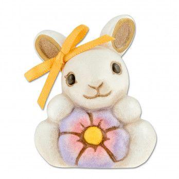Coniglio con fiore