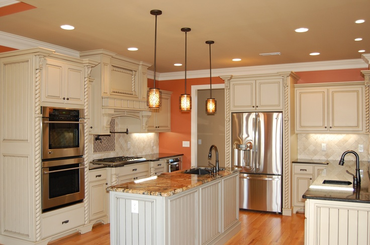 Kitchen From The Fincannon Plan 1234 The Great Room Is Crowned With An