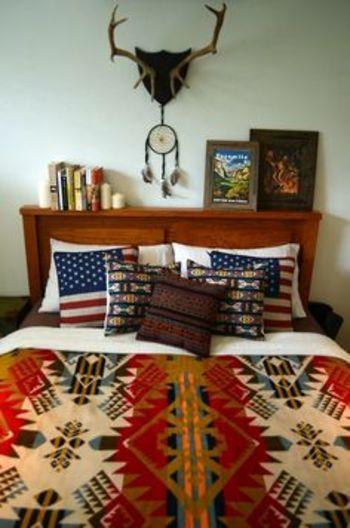 アメリカ発祥のブランドなので、アメリカ国旗柄の枕とも相性バツグンです♪