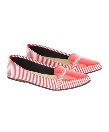 Footsie Red Fabric Girl'S Ballerinas #ohnineone