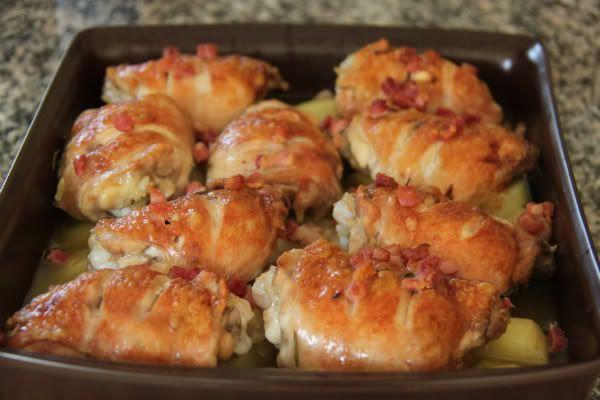 irina_kunts - Курица и картофель с чесноком и розмарином