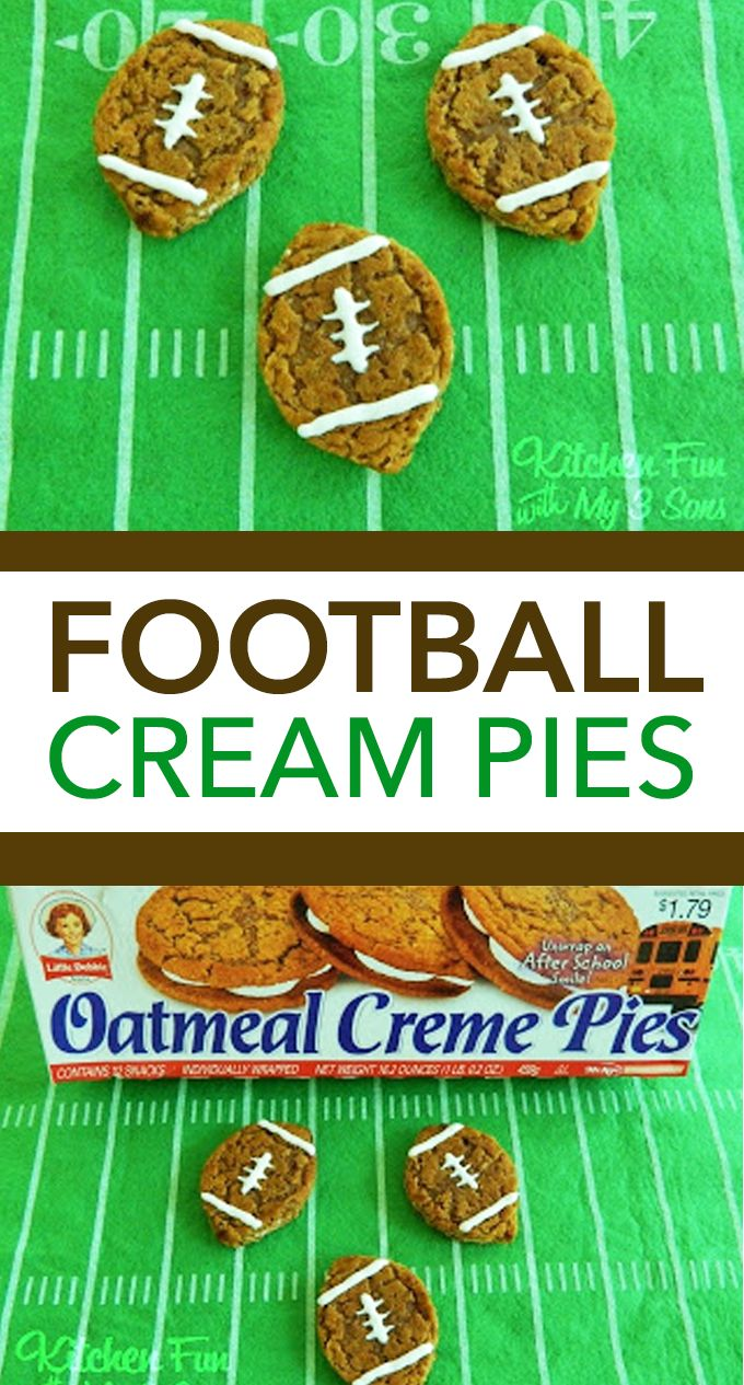 Shortcut Oatmeal Creme Football Pies - fun football snack for kids.