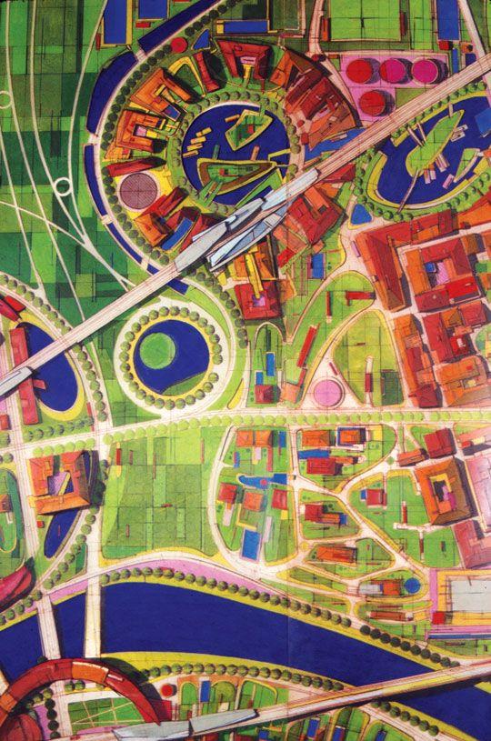 NEURASIA Masterplan for an Imaginary City, 1996  Credits: Michael Sorkin,