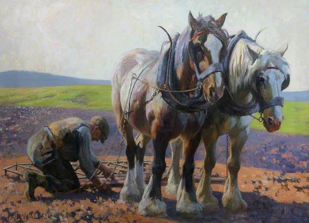 The Land Workers c.1939 by Archibald Allan (1878-1959)
