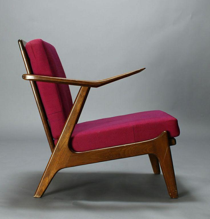H. Brockmann-Petersen; Rosewood Lounge Chair, 1955.