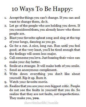 Ways to be Happy :)