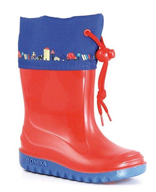Romika Regenstiefel Jerry rot-blau