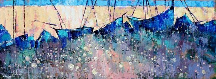 Крайнева Анастасия. Картины мастихином. Полный штиль