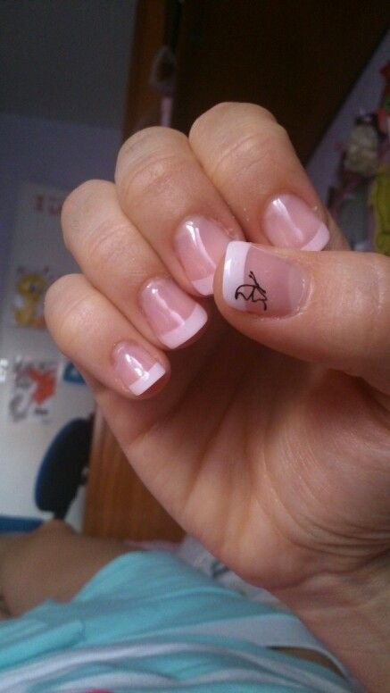 FRENCH and butterfly nails