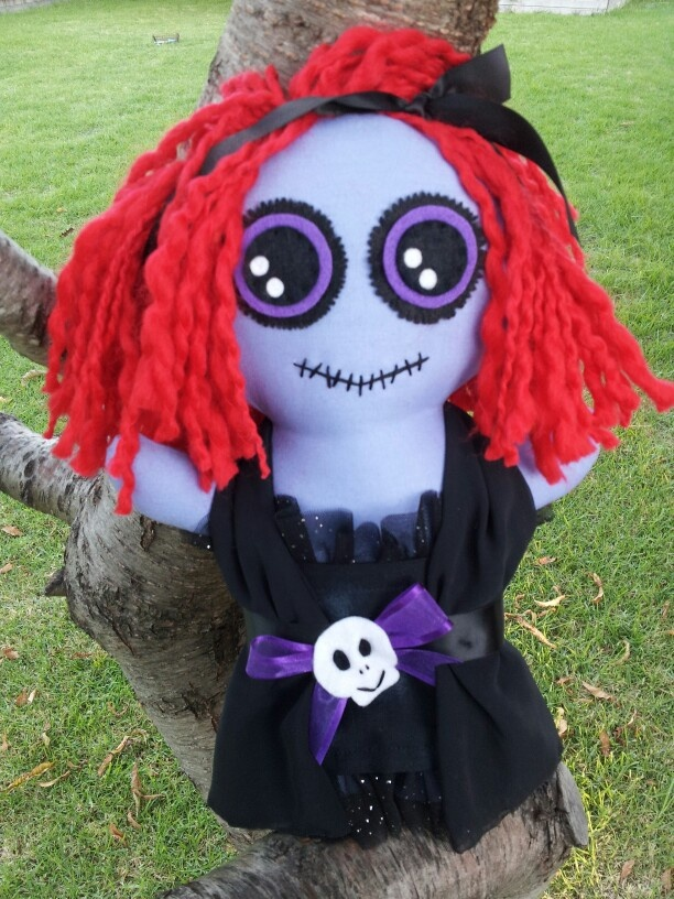 "Newbie posted up for sale today at D'Lushies on FB. She is ""Calantha"" gothic doll"