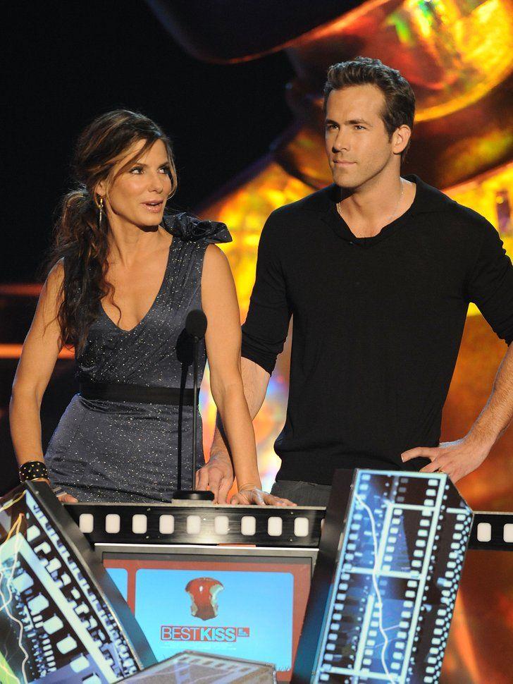 Ryan Reynolds was next to Sandra Bullock at the May 2009 MTV Movie | Happy Birthday, Ryan Reynolds — Celebrate With His Sexiest Shots! | POPSUGAR Celebrity Photo 17