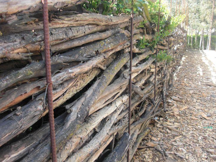 Rebar And Sticks Natural Fence Fence Landscaping
