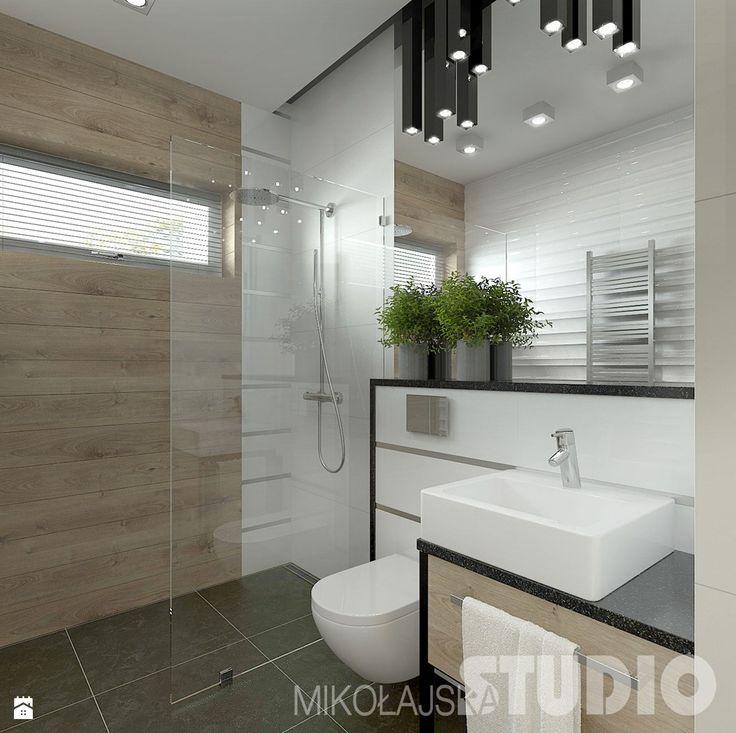 Mała łazienka w stylu skandynawskim - Łazienka - Styl Skandynawski - MIKOŁAJSKAstudio