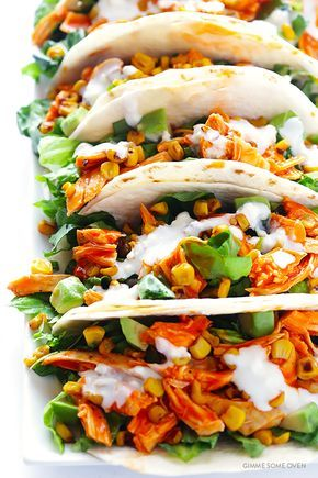 These buffalo chicken tacos are easy to make, full of the great Buffalo flavors we all love, and always a crowd favorite!