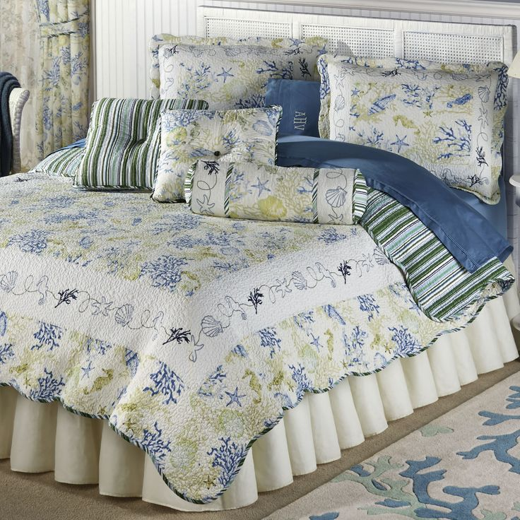 Coral Cotton Quilt Bedding Set