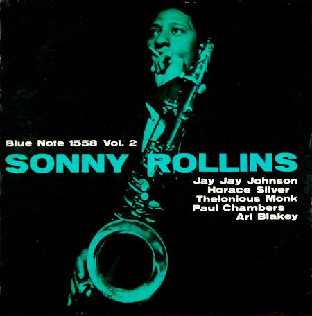 Sonny Rollins, vol. 2 Label: Blue Note 1558, 1 9 5 7 Design: Harold Feinstein   Photo: Francis Wolff