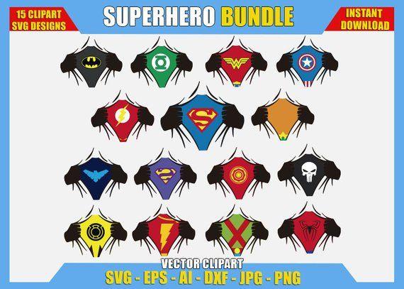 15 Superhero Ripping Shirt Bundle Svg Png Vector Clipart Silhouette Hands Reveal Logo Superman Batman Flash Vinyl Decal Cricut Logo Diy Vector Clipart Svg Png