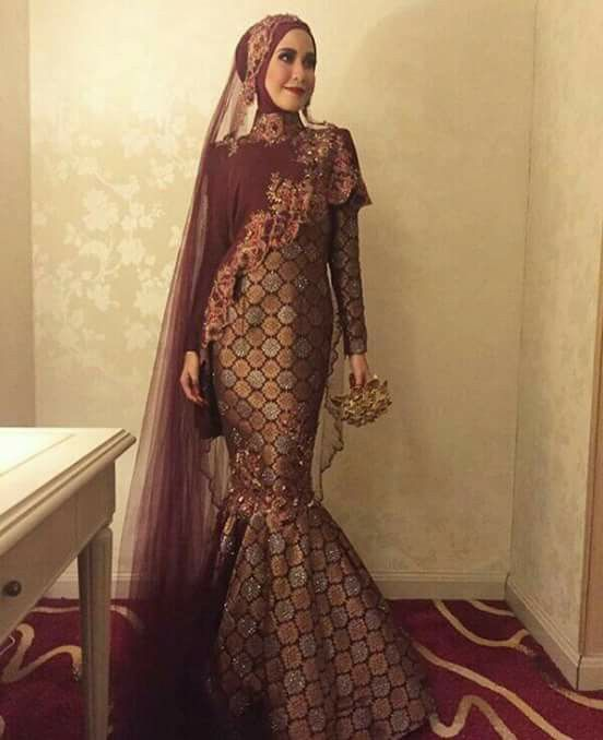 Songket wedding dress                                                                                                                                                                                 More