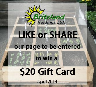 Yay! It's April! To celebrate, we're doing another draw to win a $20 Gift Card! Just LIKE or SHARE our facebook page to be entered!! :)