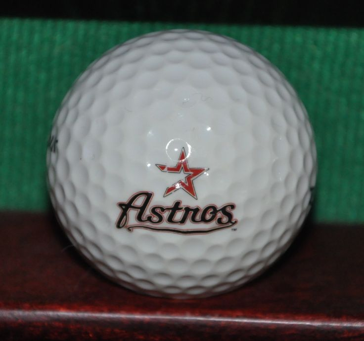 Houston Astros MLB Logo Golf Ball Ball is in very good condition with light evidence of play. The ball pictured is the ball for sale.