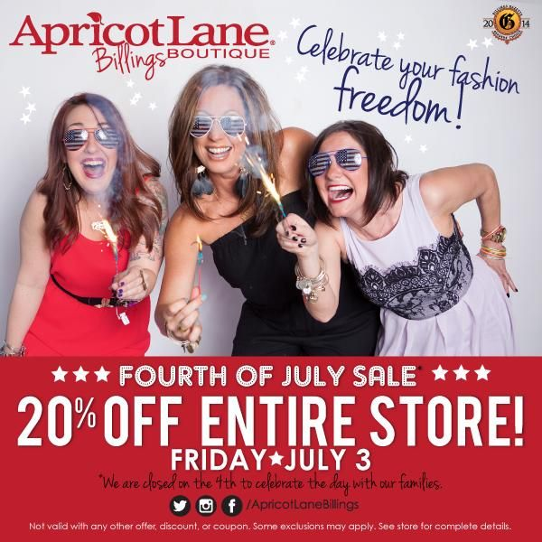 4th of july tent sale