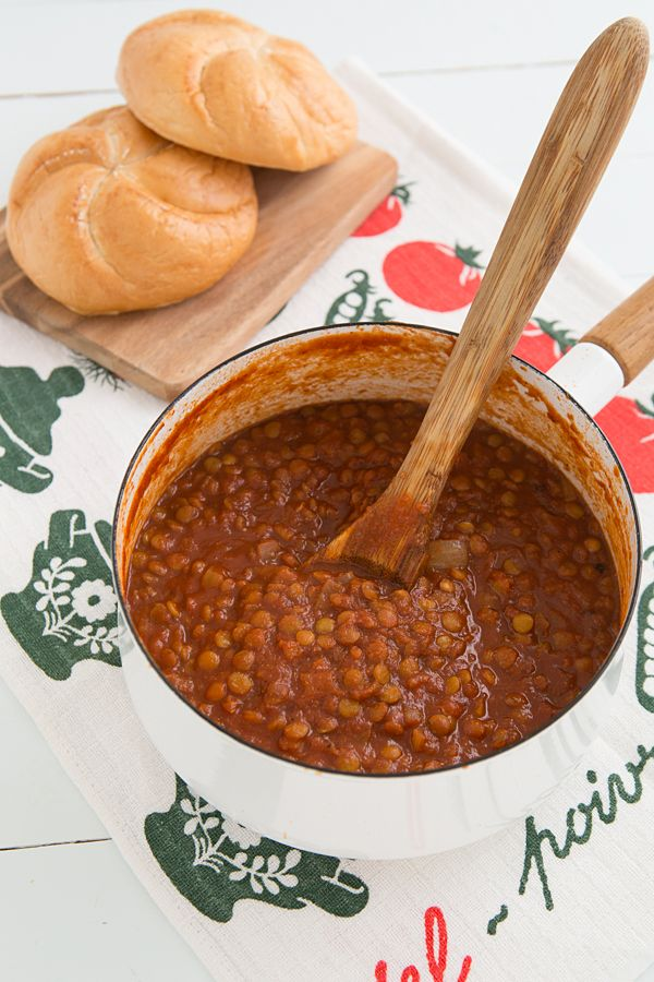 ... Lentils Vegans, Lentils Recipe, Bbq Sloppy, Onions Powder, Chops
