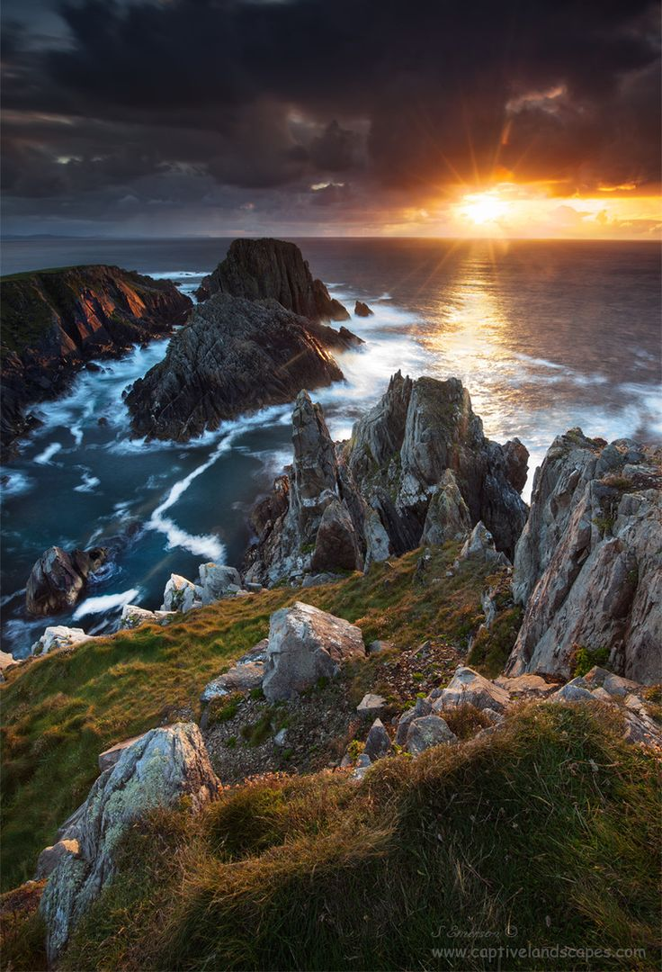 Sunset at Malin Head, Most Northern part of Ireland - Donegal, Ireland