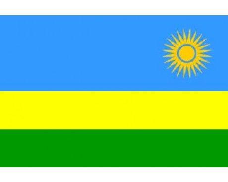 Rwanda flag sun